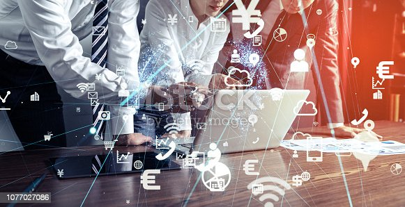 861122560 istock photo Business and technology concept. 1077027086