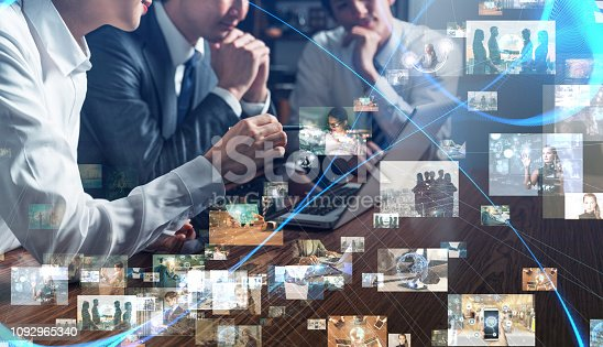 913588258 istock photo Business and technology concept. 1092965340