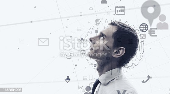 861122560 istock photo Business and technology concept. 1132894096