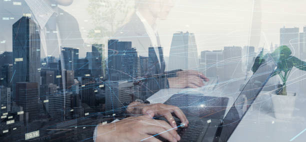 business and technology concept. - cloud software stock photos and pictures