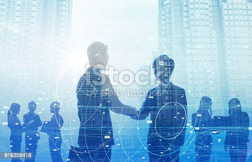 istock Business and technology concept. 916358418