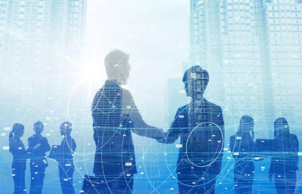 ビジネスとテクノロジーのコンセプトです。 ストックフォト