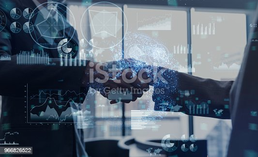 494762574istockphoto Business and technology concept. 966826522