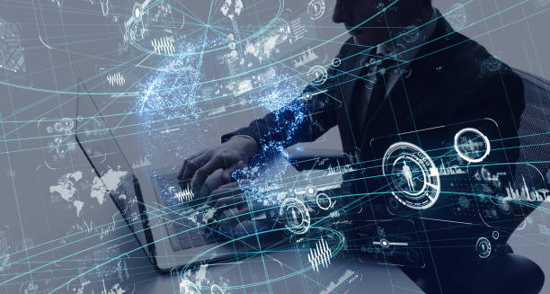 ビジネスとテクノロジーのコンセプトです。 - サイバー犯罪 ストックフォトと画像