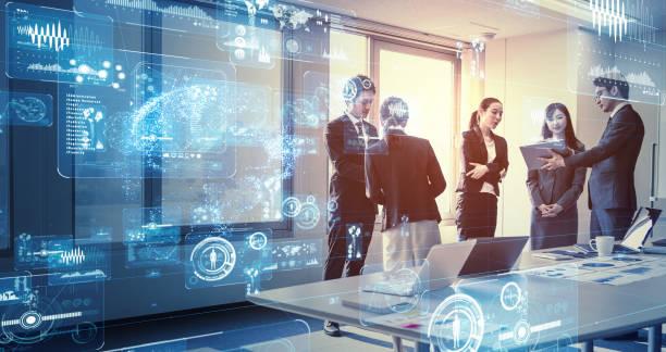 Geschäfts-und Technologiekonzept. Smart office. – Foto