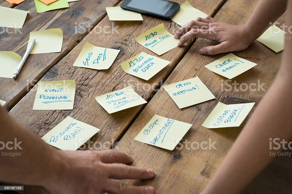 Business appointments stock photo
