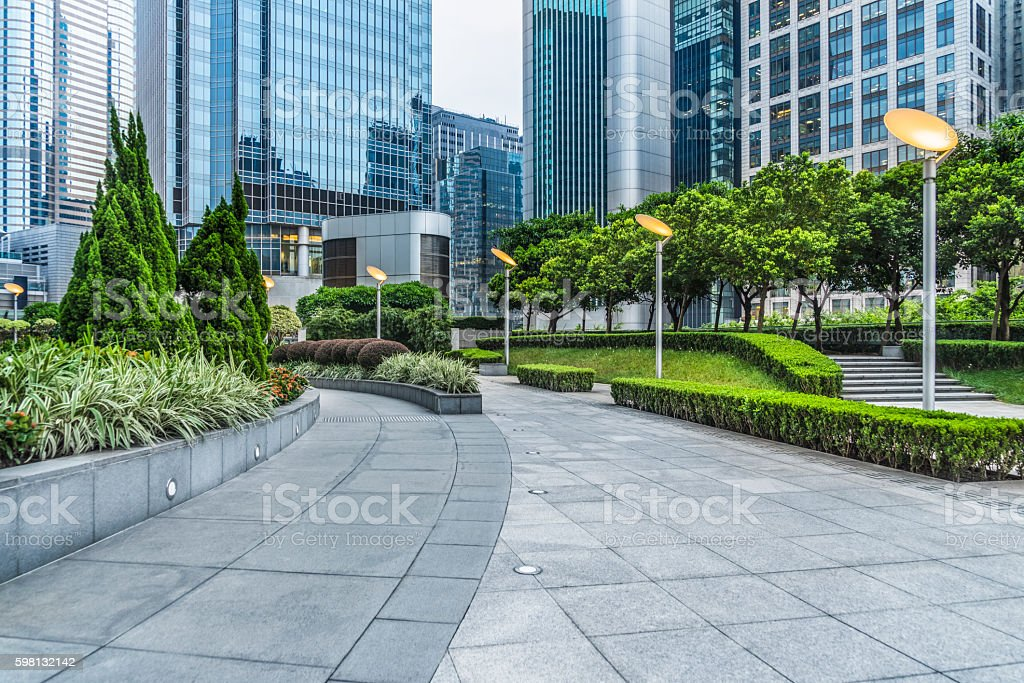 business area of hong kong stock photo