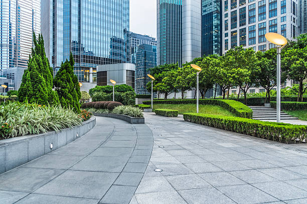 business area of hong kong business area of hong kong,china. town square stock pictures, royalty-free photos & images