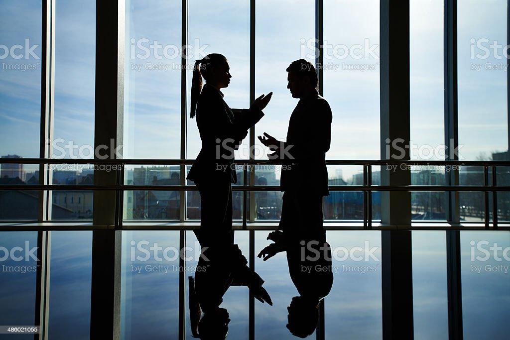 Business argument stock photo
