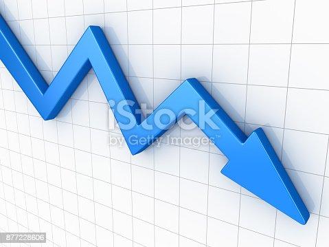 istock Business Arrow Graph 877228606
