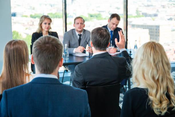 Auditoire d'affaires à la formation - Photo