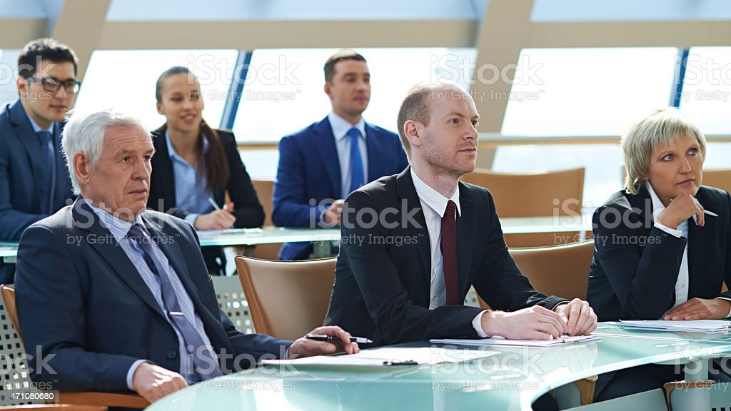 Business audience stock photo