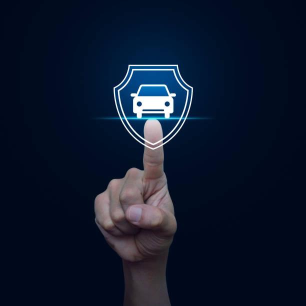 Business automobile insurance concept stock photo