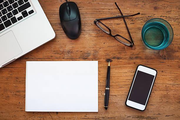 business hintergrund mit platz für text - schulmaterialien stock-fotos und bilder