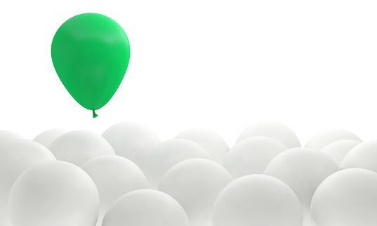 business ball success leadership green winner different background 3D illustration