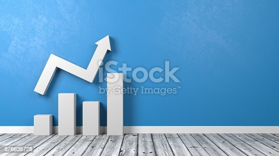 istock Business Bar Chart on Floor 876638728