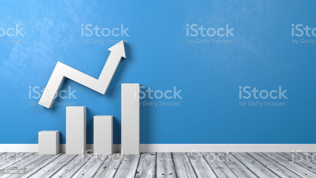 Business Bar Chart on Floor stock photo