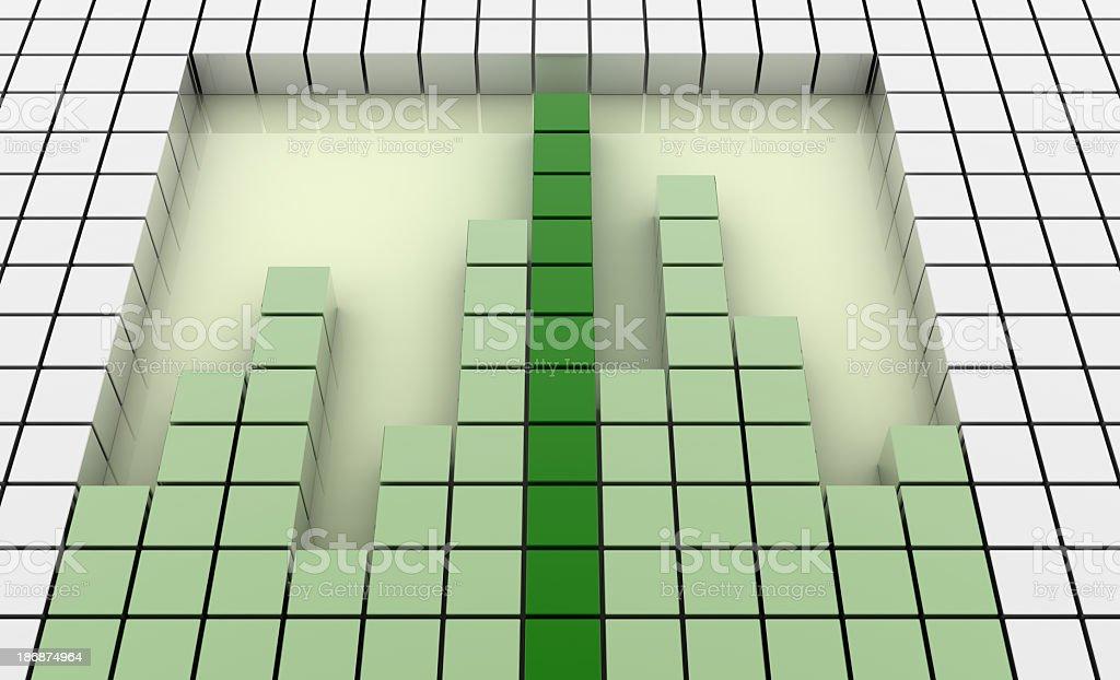 Business bar graph (XXL) royalty-free stock photo