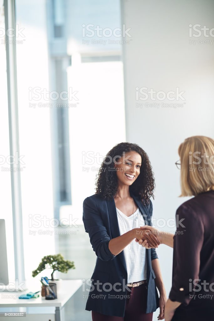 Business based on a solid partnership stock photo
