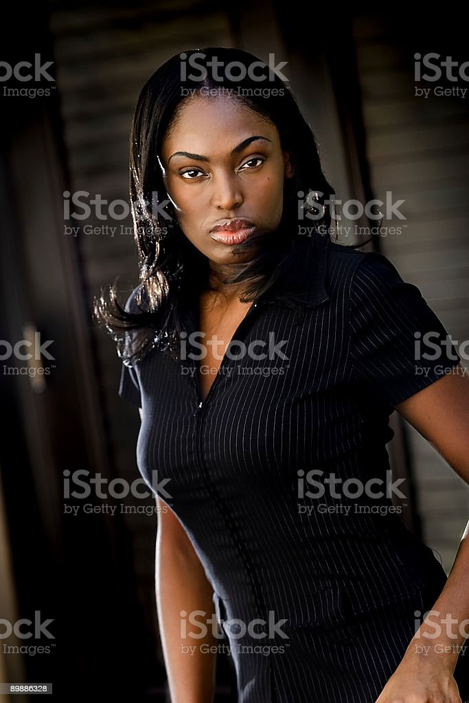 Business black woman royalty free stockfoto