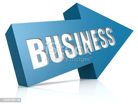 1014851396 istock photo Business blue arrow 1056793148