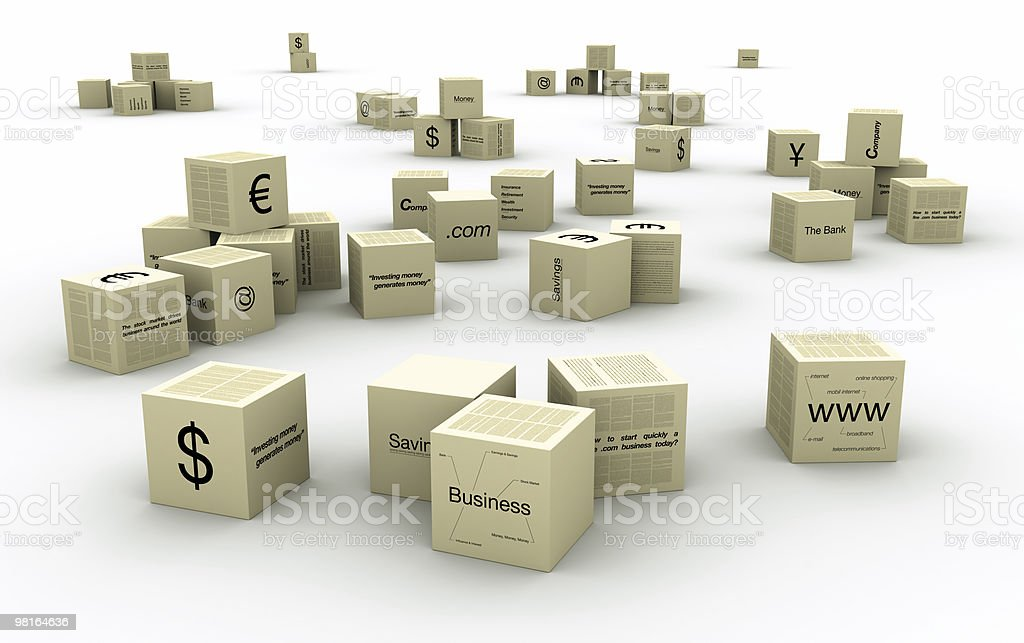 Business boxes royalty-free stock photo