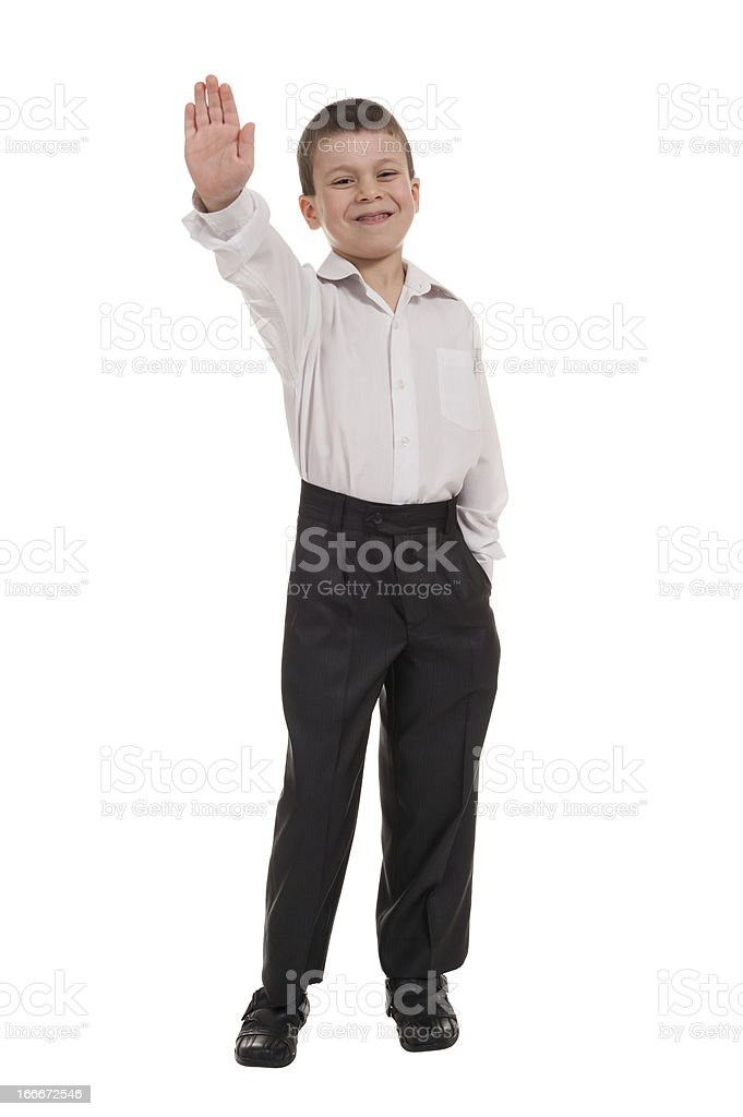 business boy on white royalty-free stock photo