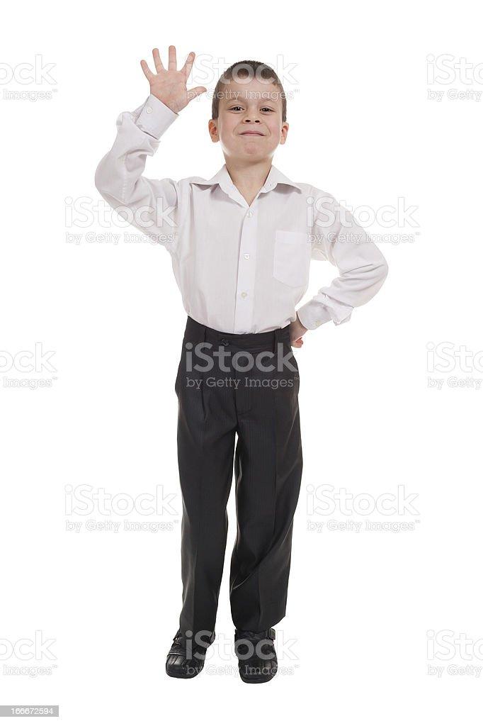 business boy on white royalty-free stock photo