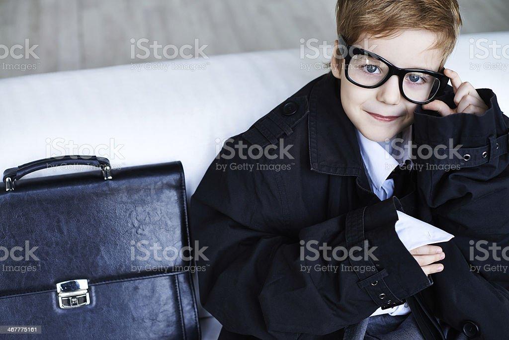 Business boy stock photo