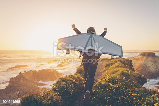 istock Business Boy with Jet Pack in California 904944566