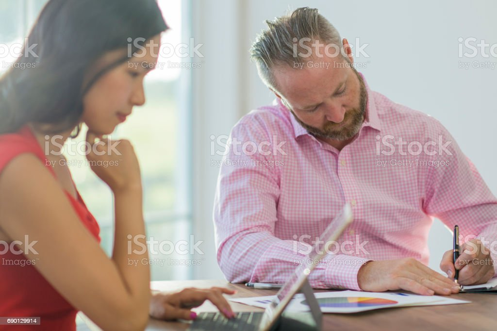 Business Brainstorming Session stock photo