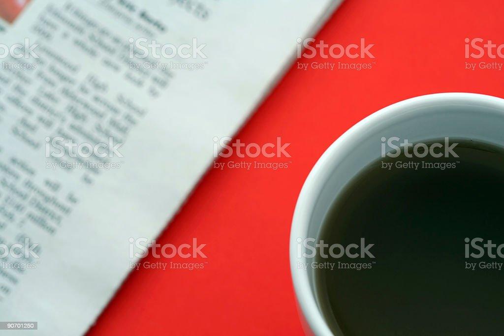 Business breakfast royalty-free stock photo