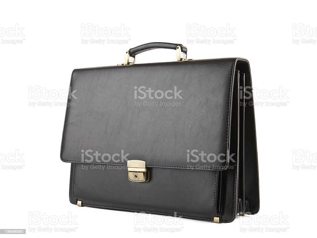 Business Briefcase on white. XXL stock photo