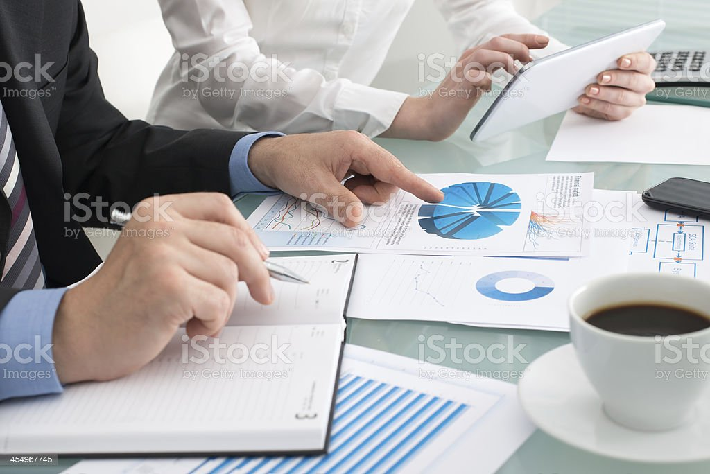 Business briefing royalty-free stock photo