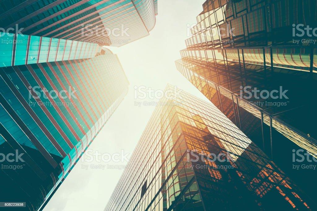 business building exterior stock photo