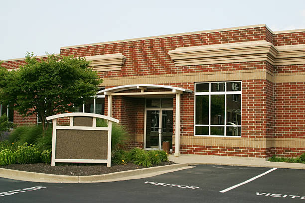Business Building With Sign stock photo
