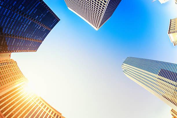 Business-Gebäude bei Sonnenuntergang – Foto