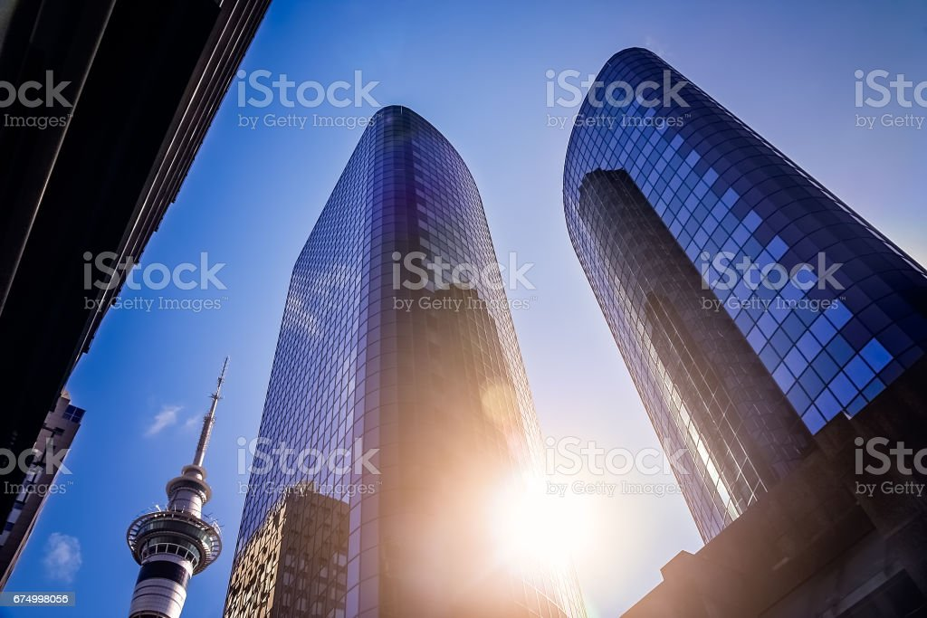 Business Buildings in Auckland stock photo