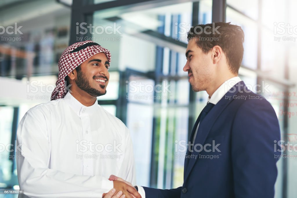Business built on a mutual purpose stock photo