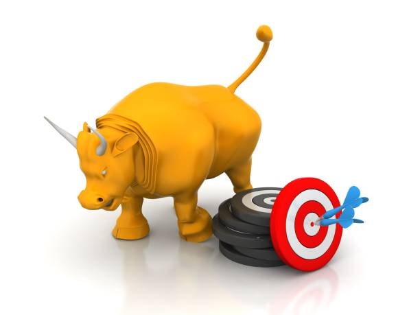 Business Bull  Targe stock photo