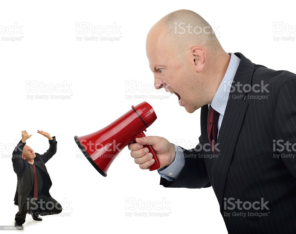 Business bully stock photo