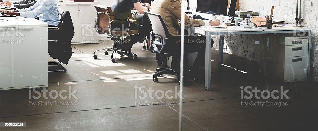 Business Busy Working Working Workplace Concept stock photo