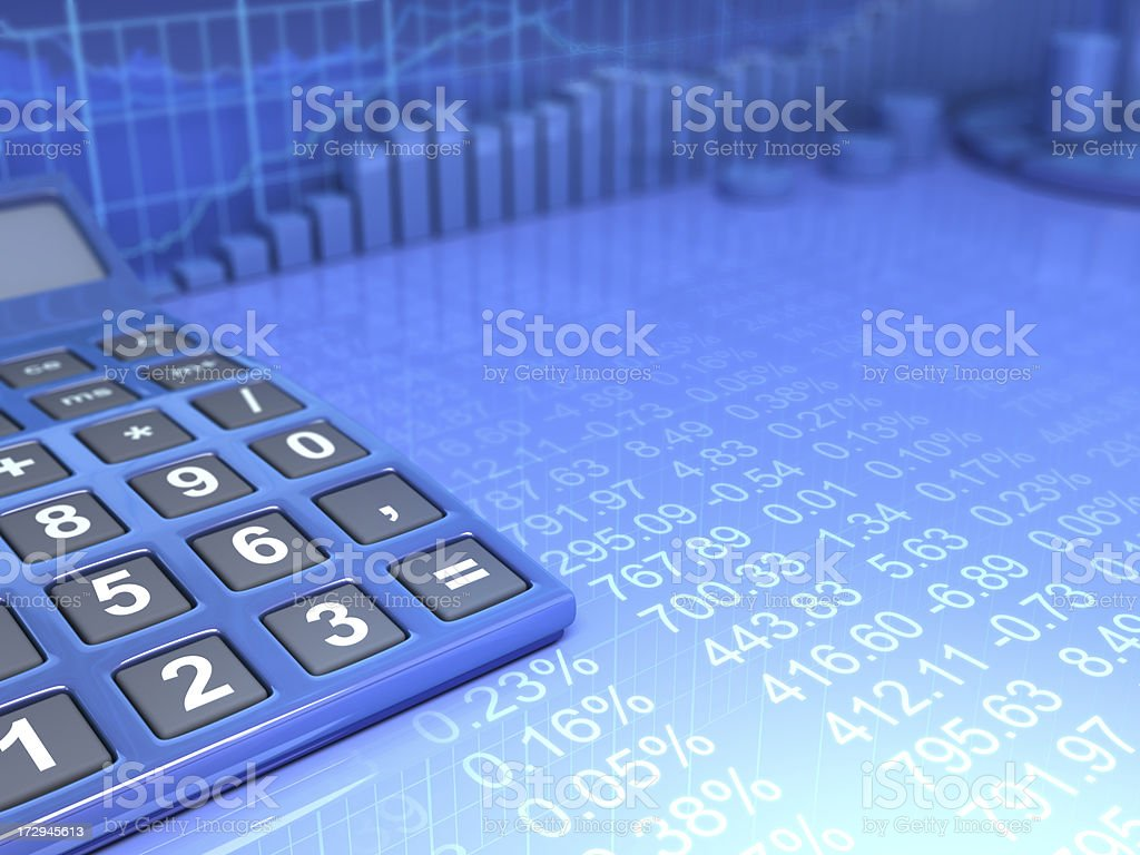 Business & Calculating royalty-free stock photo