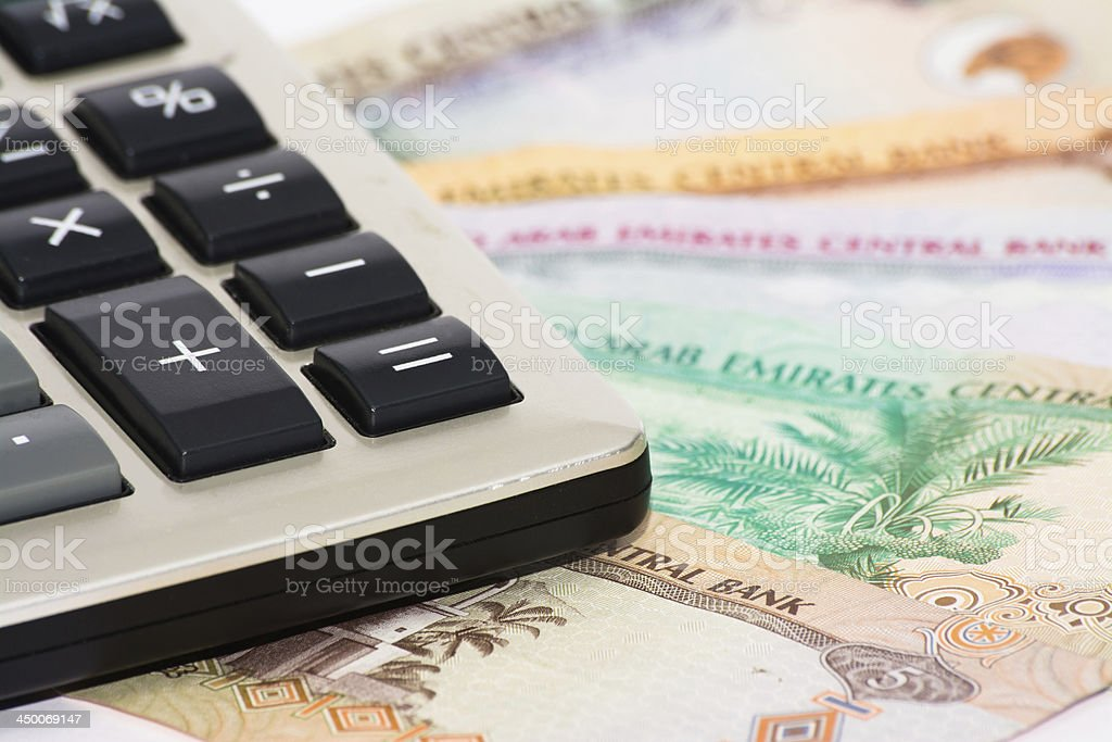 Business calculations stock photo