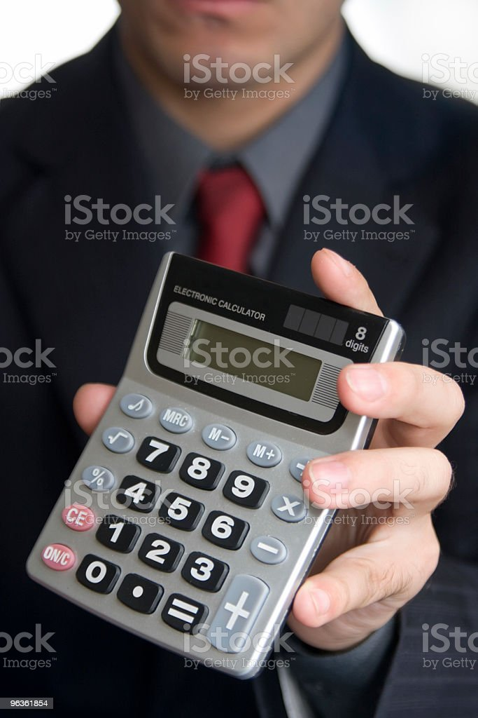 Business Calculations royalty-free stock photo
