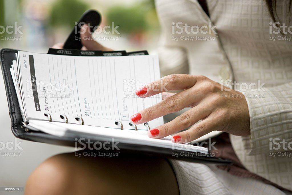 Business calendar stock photo