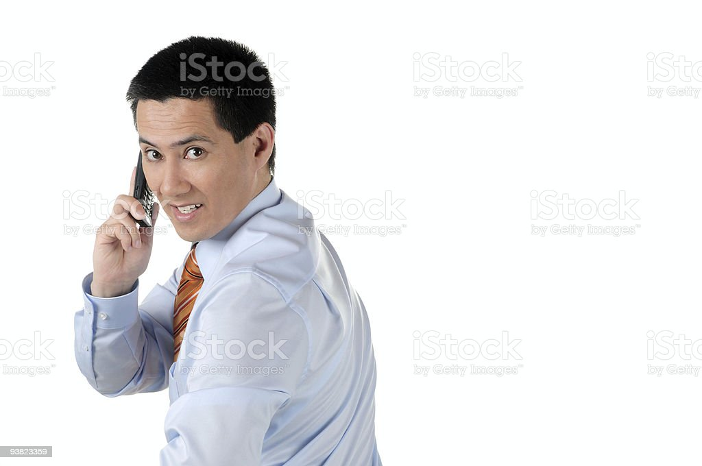 Business Call Half Back royalty-free stock photo