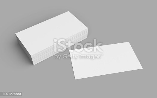 business, card, 3d, rendering, mockup, empty