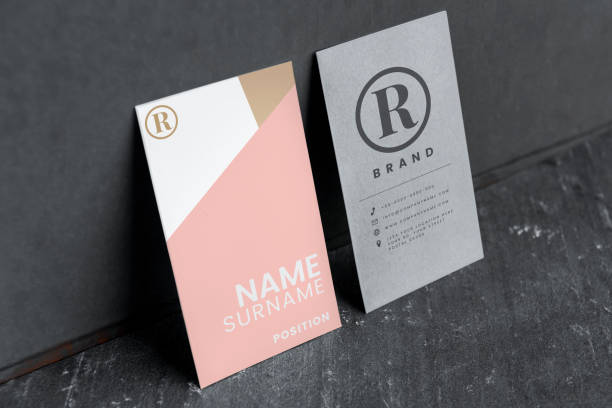 business card and name card mockups - badge logo stock pictures, royalty-free photos & images