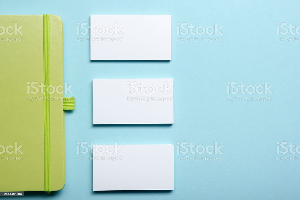 Business Card Blank Notepad Flower Coffee Cup And Pen At stock photo ...